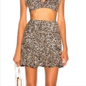 Retrofête Harlow Sequin Mini Skirt
